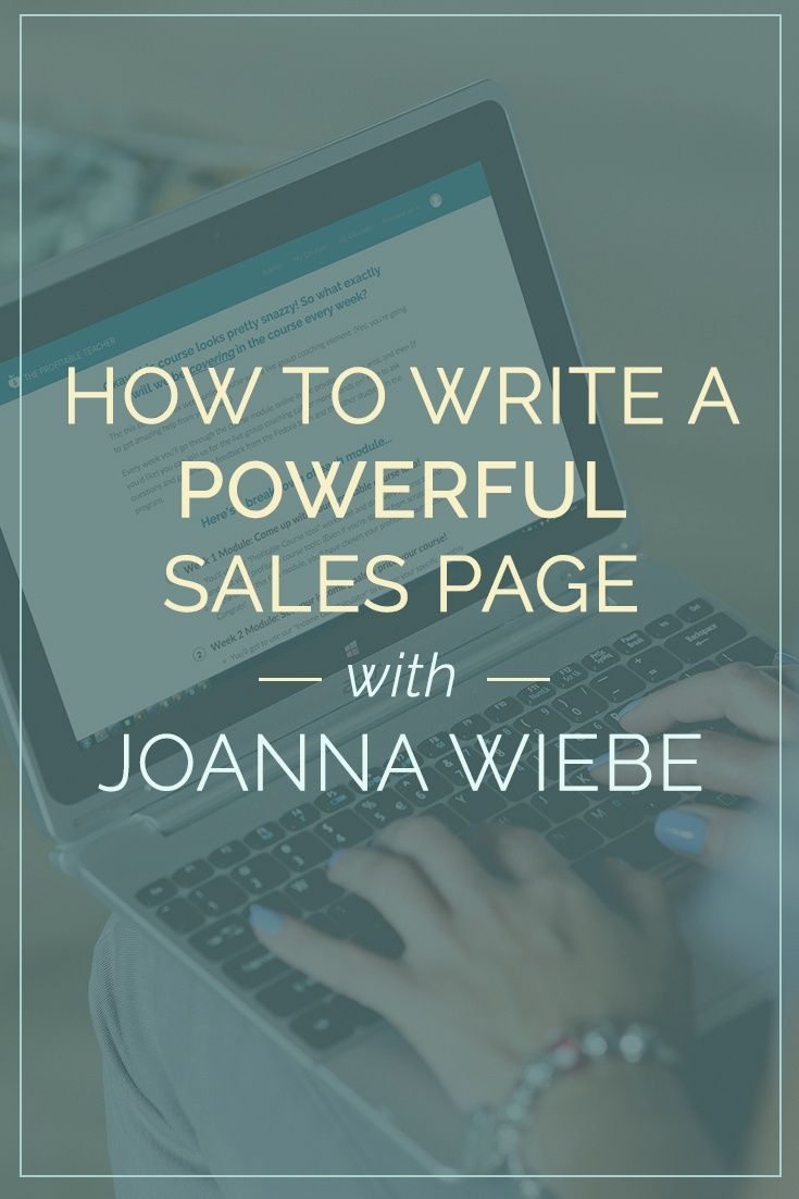 Everything you need to know about writing a sales page, all the tools you need to improve and an exclusive interview with the Copy Hacker herself: Joanna Wiebe.