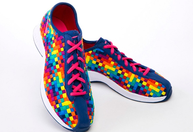 Woven Leather Shoes Rainbow Colors