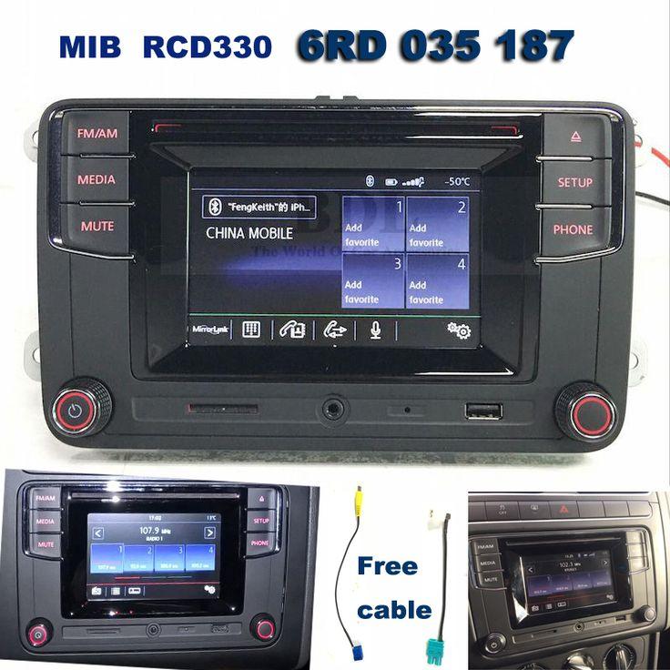 Radio 6 5 RCD330G MIB+Camera Adapter Bluetooth Fit VW Passat Golf Jetta EOS