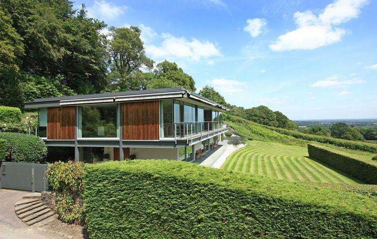 The Quell, The Manser Practice #manser #house #modern #steel #glass #view #sussex #weald #quell