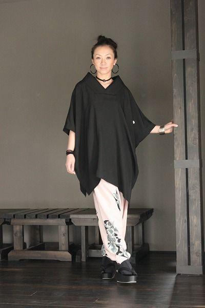 Tops - キモノカラーアシメポンチョ - 着物リメイク、和柄ファッションアイテムの通販サイト/FURYU フウリュウ