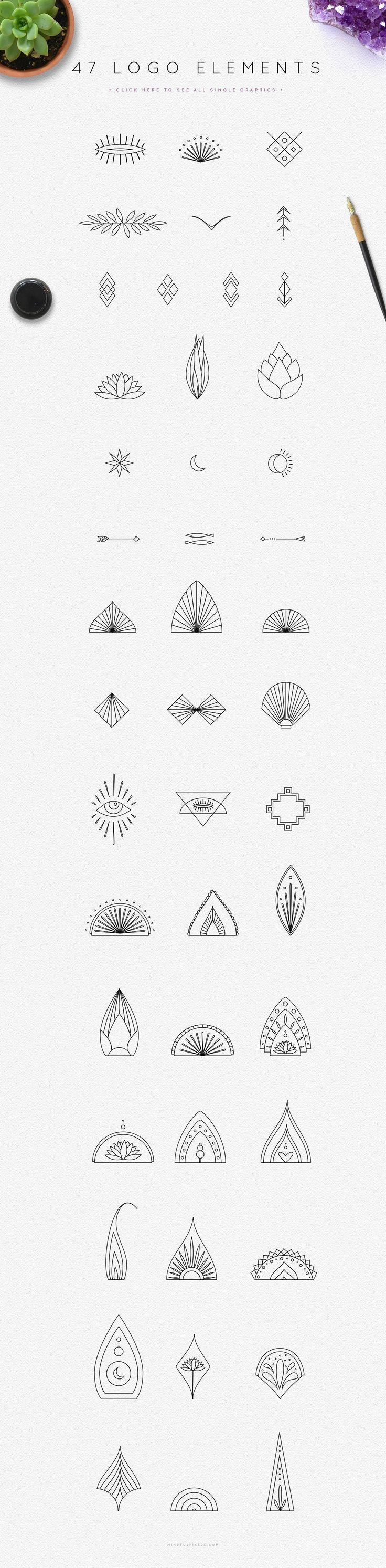 Typografie Mithilfe der Elemente aus dem Mandala Logo Creator-Kit können Sie C