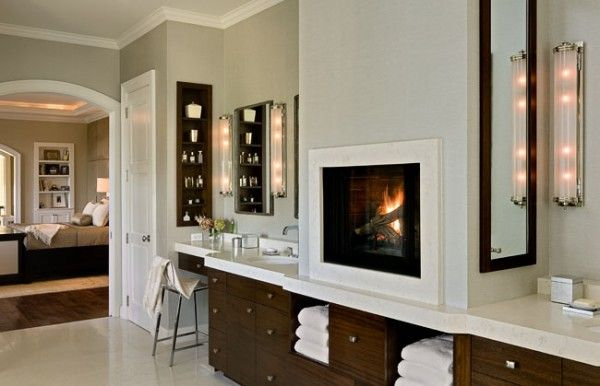 Master Bath With Gas Fireplace For The Home Pinterest