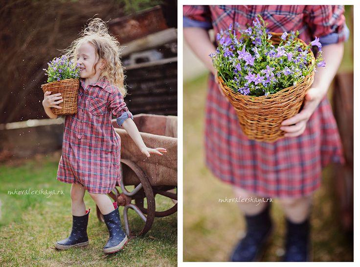 Little gardener / Spring photo shooting / Юный садовник - идея для детской фотосессии весной