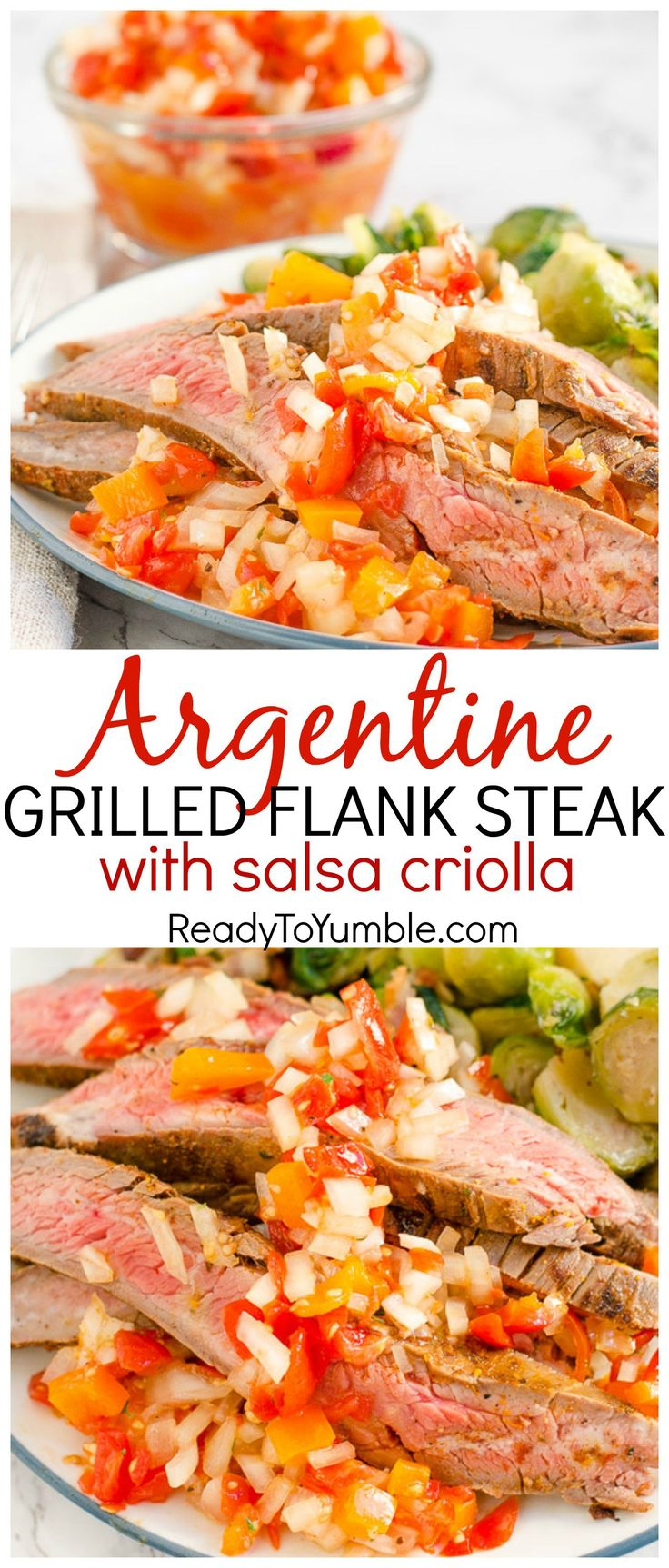 Argentine Grilled Flank Steak is an easy make-ahead dinner, with a ...