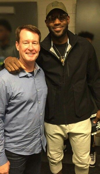 Akron's Own LeBron James With Mark Price ... 💋