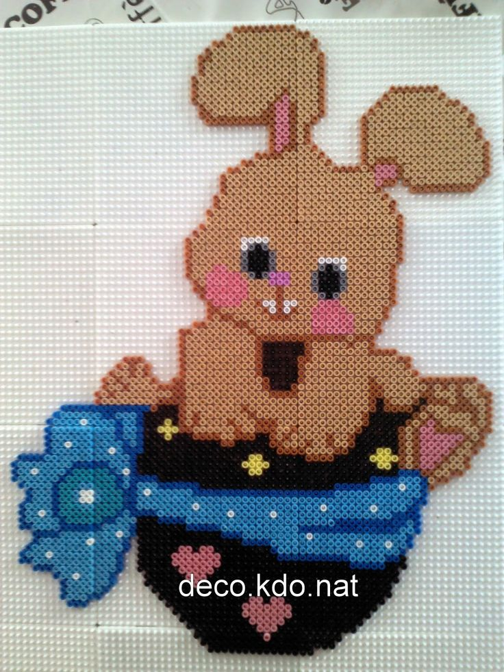 Easter bunny chocolate egg hama perler beads by deco.kdo.nat