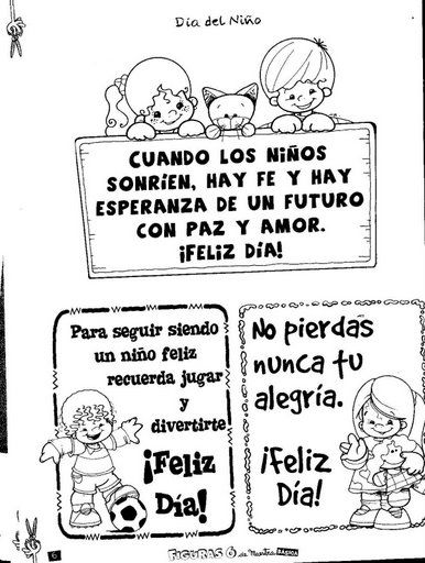 dibujos para imprimir 11 de agosto dia del niño - Buscar con Google