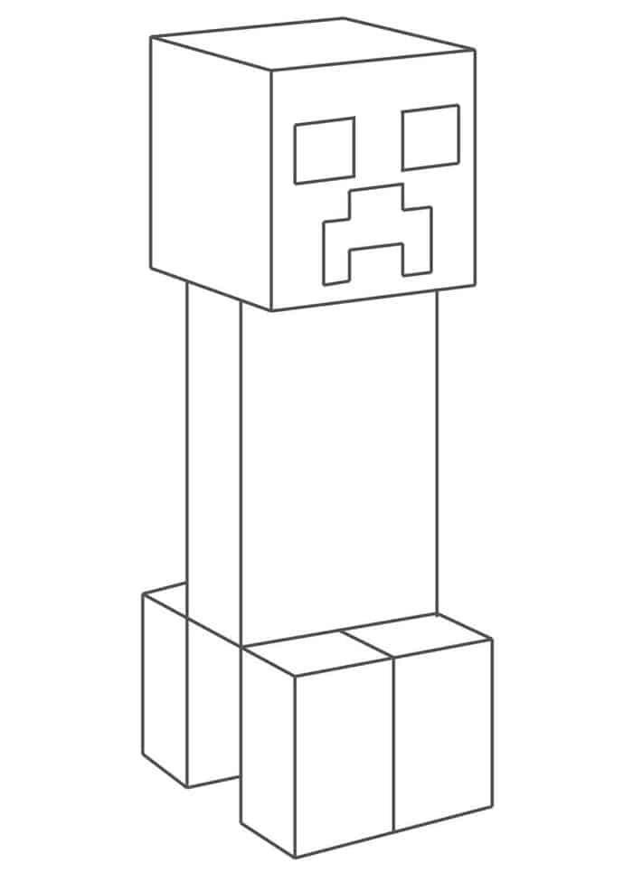 86a34d1fe212fa9c8a24612a43456b21 » Coloring Minecraft Creeper