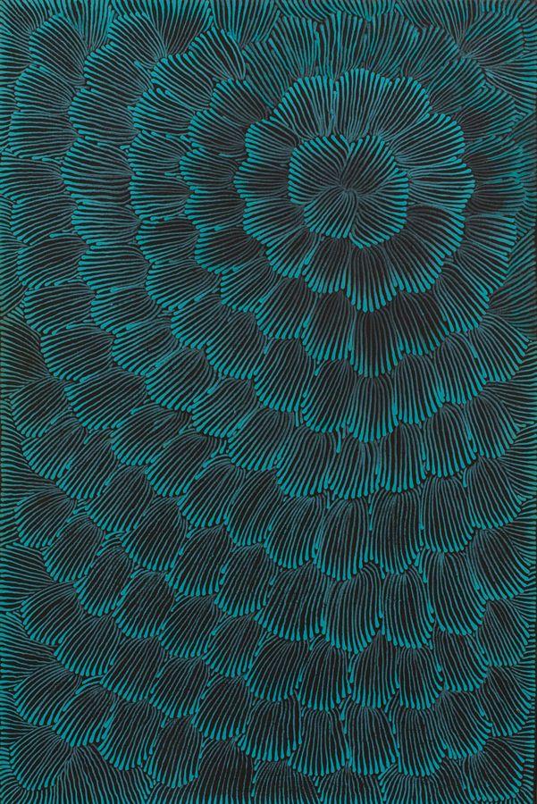 Joy Jones Kngwarreye ~ Awelye Celerie Kemble interpreted this in a current wallpaper - dramatic and organic, <3
