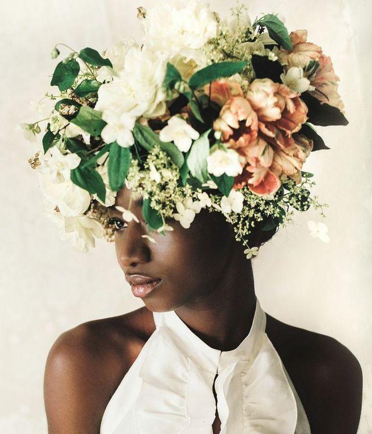 Floral Headpiece by Anna Korkobcova and Ivanka Matsuba