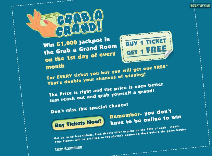 Priceless Bingo offer the chance to win a grand on the first day of every month! Buy One Get One Free on tickets makes this promo all the more appealing!