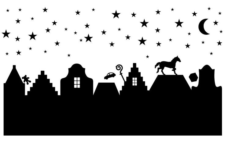 Sinterklaas Sjabloon......Als de Sterren stralen........Hup over de daken met die cadeautjes ;-D