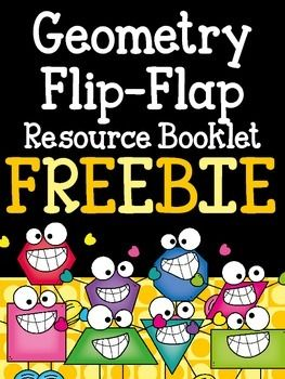 Geometry Flip-Flap Resource Booklet- Freebie!! - This is a fun resource for your students to use as a resource when studying geometric figures and quadrilaterals. There are twelve flaps with different geometric vocabulary, attributes, and examples of each shape. Easy to cut (only rectangles) and easy to assemble (only two staples) and you have a fun reference booklet for your students!