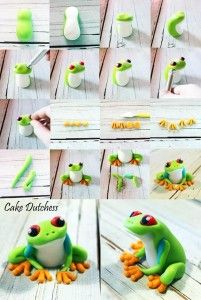Another fabulous picture tutorial by Cake Dutchess, this time it's a cute little green tree frog.