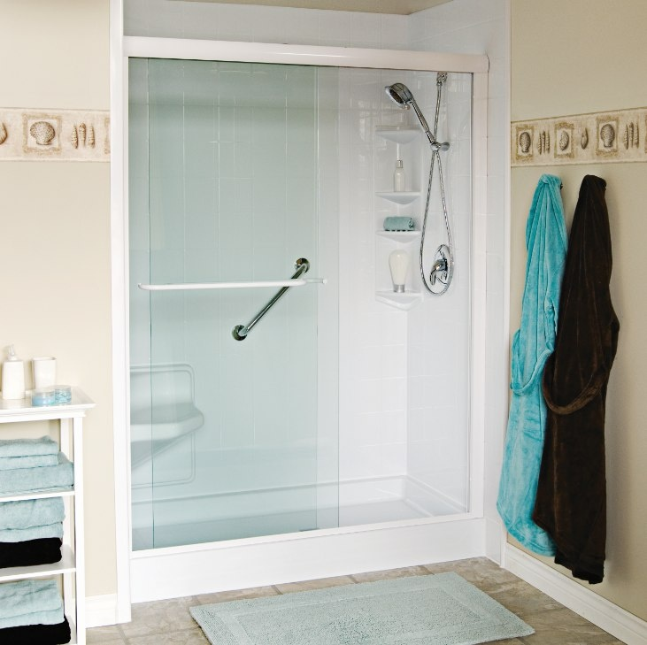 Spacious walk in showers bath fitter for the home for Bathroom fit out cost