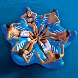 Бассейн & Пляж 6UP гостиная - 6 человек круглый надувной остров