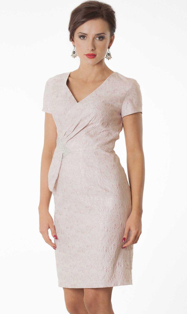 Suknia Hilda pudrowy róż Semper Shop