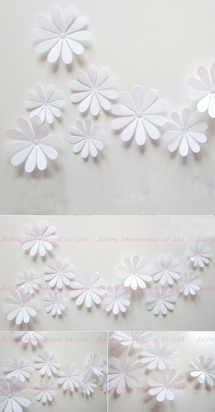 12Pcs/Set PVC Flower 3D Sticker Wall Simple Modern Wall Stickers Home Decor Living Room Bathroom Modern Wall Decals Y112 $1.18