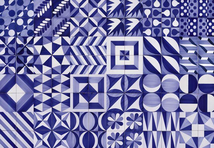 design-is-fine:  Gio Ponti, Ceramiche per pavimenti, 1960-1976, Ceramica D'Agostino. Composition with 30 tiles for the Hotel Parco dei Princ...