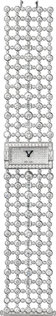 Montre heure apparente Haute Joaillerie Petit modèle, or gris, diamants
