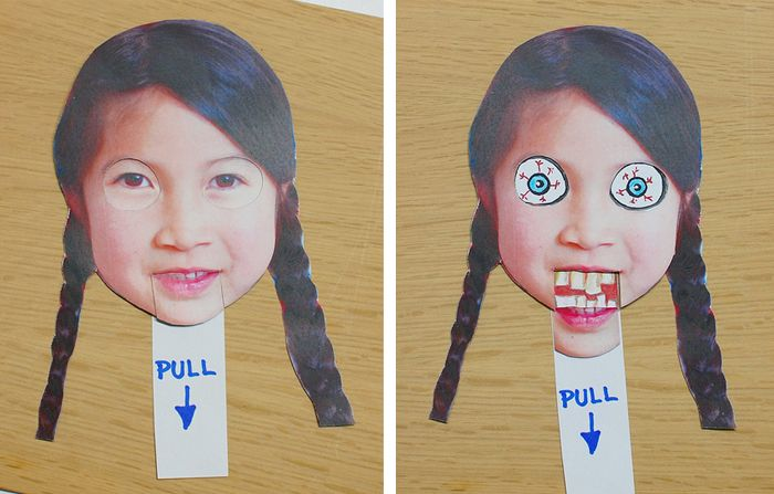 Funny Face-Changer Craft link ----> http://bkids.typepad.com/bookhoucraftprojects/2011/10/creepy-facechanger-halloween-diy-mask-cardstock-.html