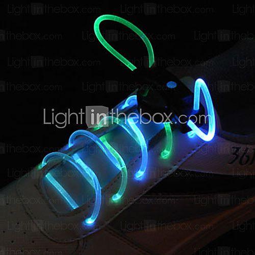 Flash tumbuh tongkat cahaya cyan dipimpin tahan air tali sepatu (1-pair) | LightInTheBox