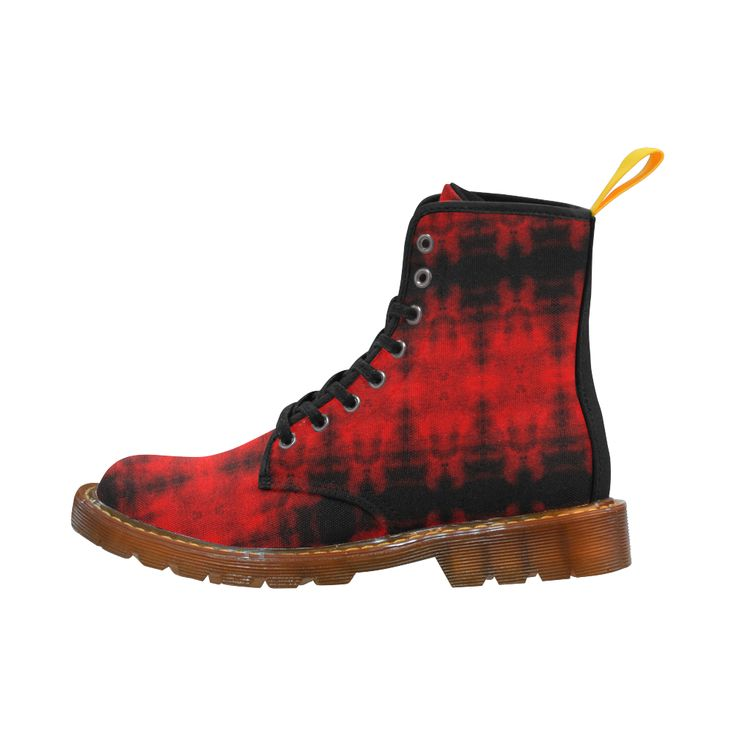 Red Black Gothic Pattern Martin Boots For Women Model 1203H.Shoes, boots, fashion, accessries, fashion wear, sneakers b, pattern, argyle, gym shoes, sports, leisure, modern, cool, elegant, trendy, trend,gifts,shoes online,trends,chic,