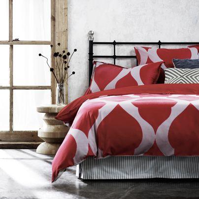 Tahla Scarlet Queen bed quilt cover