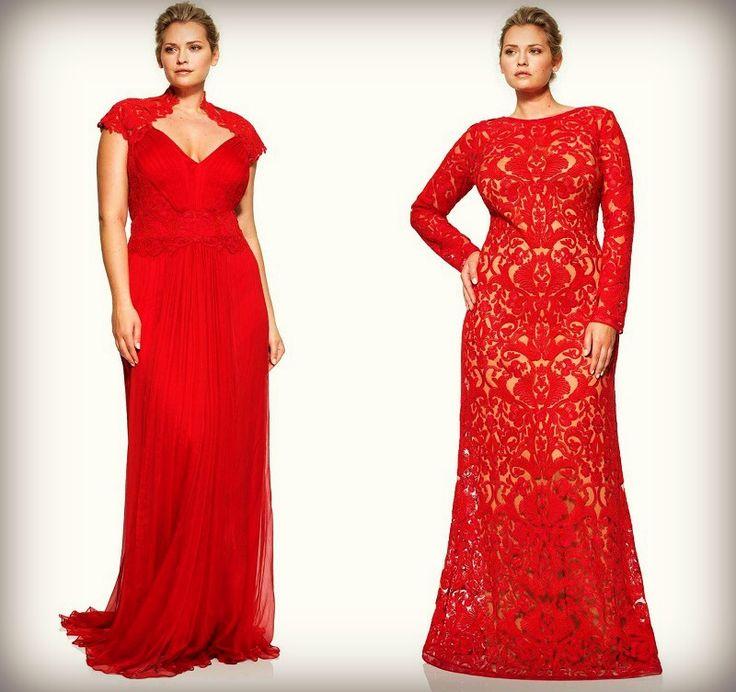 длинная красная платья для полных женщин фото