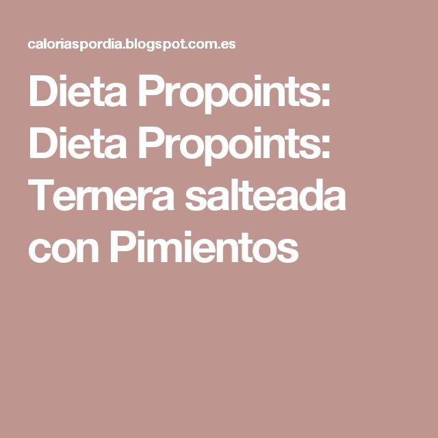 Dieta Propoints: Dieta Propoints: Ternera salteada con Pimientos