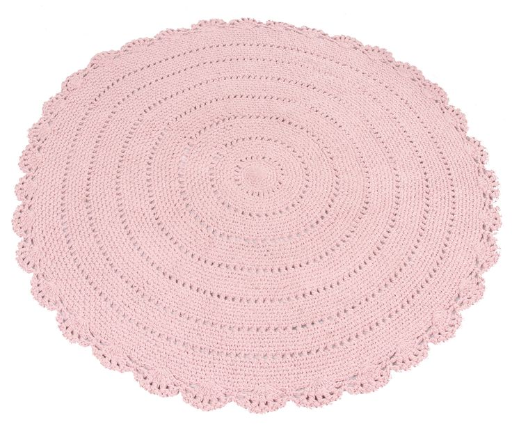 Kidsdepot vloerkleed Roundy roze 110cm | Lief en Klein