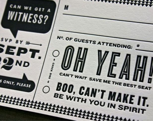 RSVP ideas courtesy of the bridal detective