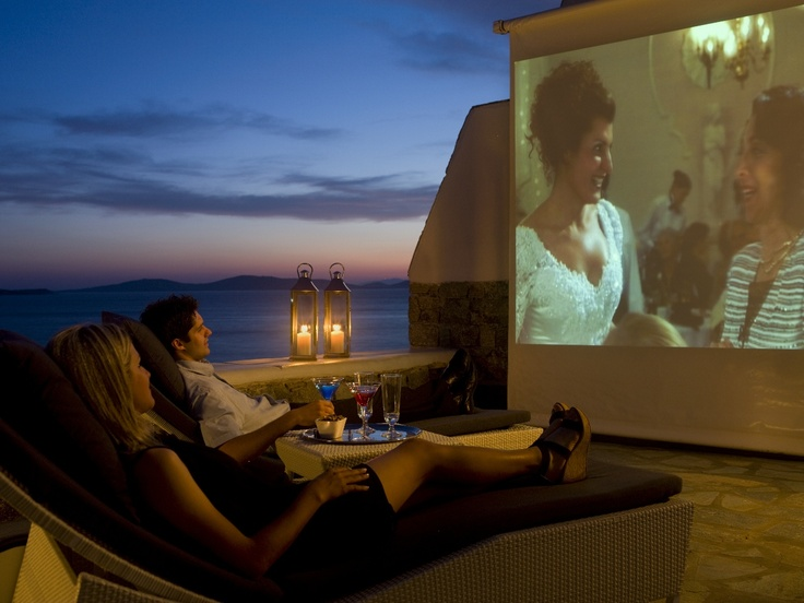 Is it the Big Fat Greek Wedding movie that you wish to watch on our outdoor cinema? Just let us know. Add some romance on your honeymoon at Mykonos Grand luxury hotel