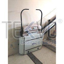 Plataforma salvaescaleras V64 (Escaleras rectas, sin curvas, ni descansos) - Plataformas salvaescaleras -  -  Plataformas salvaescaleras
