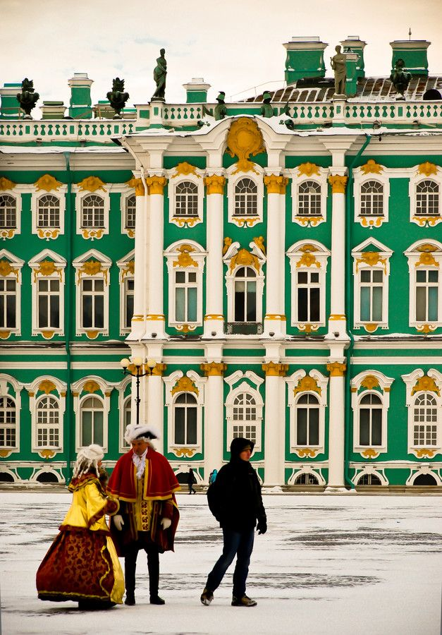 The Hermitage - Russian Czars Winter  Palace in  St Petersburg .The great art collection of Catherine II is housed here.