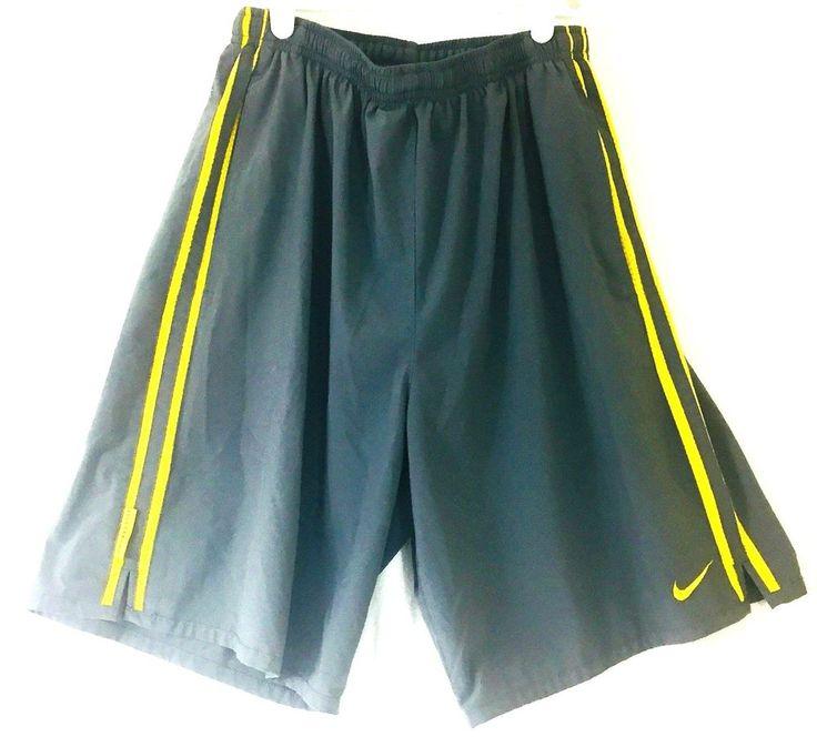 Nike Fit Dry Boys Medium Basketball Shorts Live Strong Drawstring Grey Yellow   | eBay