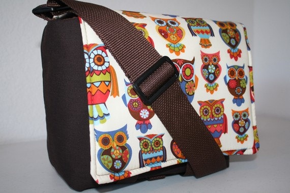 .XcessRize Designs CAMERA Bag 5 Lens Xtra pkts nat owl WD LG: Messenger Bags, Owl, Baby Bags, Baby Stuff