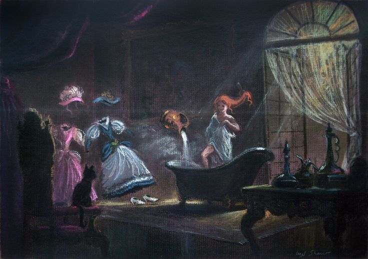 "Concept art by Mel Shaw for Disney's ""Beauty and the Beast""."