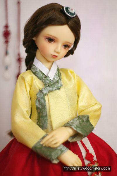 한복 Hanbok : Korean traditional clothes[dress]    #DollHanbok