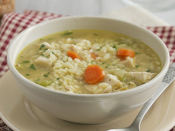 Chicken Orzo Soup Recipe from Betty Crocker. I double the veggies and water. Wonderful and simple! -Sarah