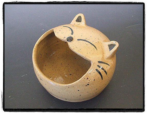 Cute Tabby Cat Salt PigSalt Cellar by misunrie by misunrie on Etsy, $28.00
