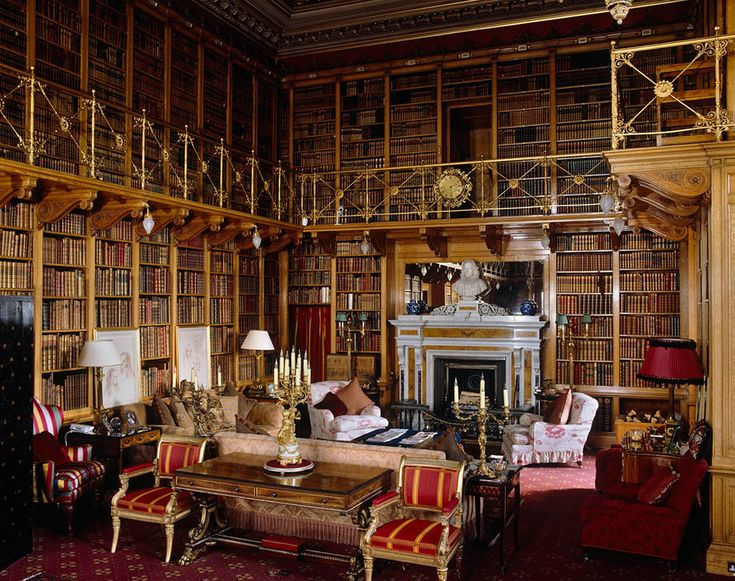 Library at Alnwick Castle
