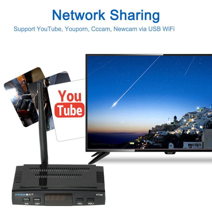 FREE SAT V7 HD DVB-S2 TV Receiver Set Top Sales Online eu - Tomtop