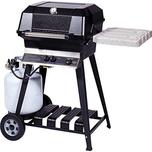 Mhp Jnr4 Freestanding Propane Gas Grill With Nustone Shelves And Searmagic Grids On Aluminum Cart >>> Want additional info? Click on the image.