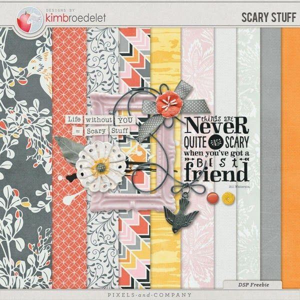 Quality DigiScrap Freebies: Scary Stuff mini kit freebie from Kim Broedelet