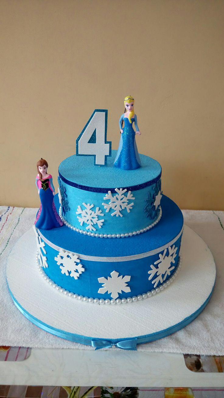Torta ficticia de frozen