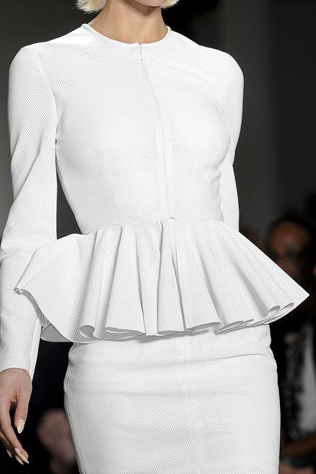 Fashion detail : the beautiful white peplum outfit✤ | Keep the Glamour | BeStayBeautiful