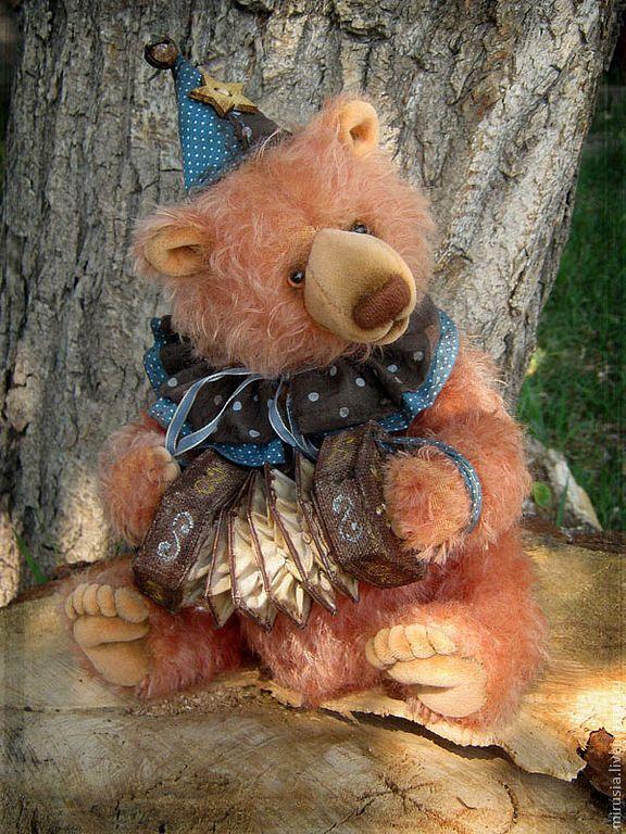 Купить Жюст. - мишка, авторский мишка, мишки тедди, teddy bear, мохер, миништоф, синтепух