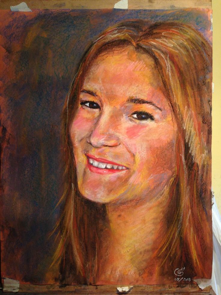 Retrato que una abuela regala a su nieta